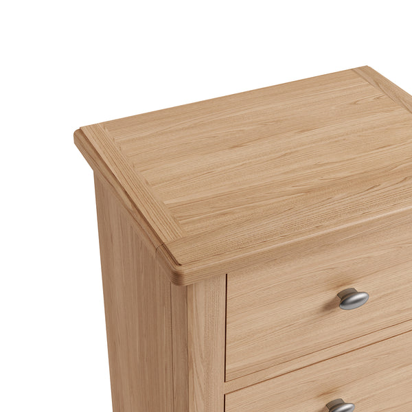 Faro Oak Chest of Drawers - 5 Drawer Narrow