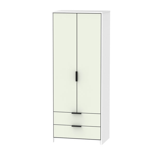 Kaschmir & White Wardrobe with 2 Drawers