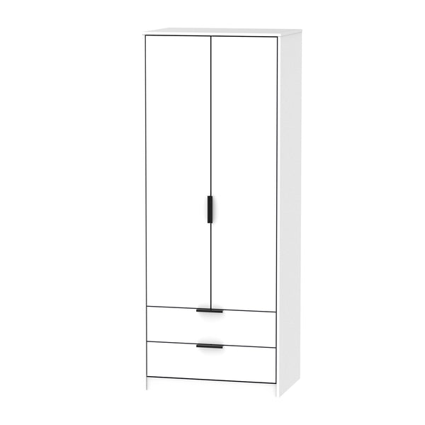 White 2 Door 2 Drawer Wardrobe