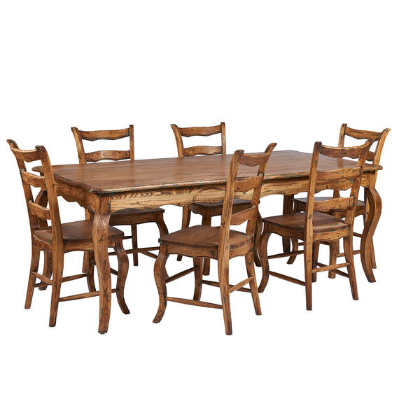 Lambs Green - Louis Oak Fixed Dining Table