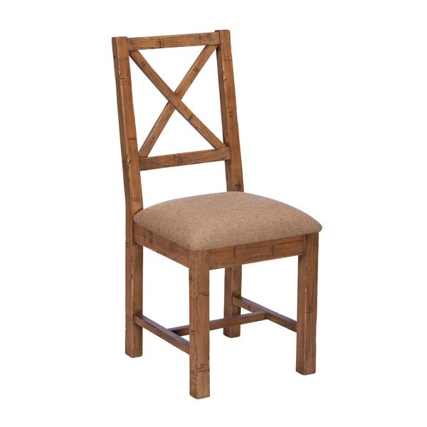 Colebrook Dining Chair - Cross Back with Upholstered Seat