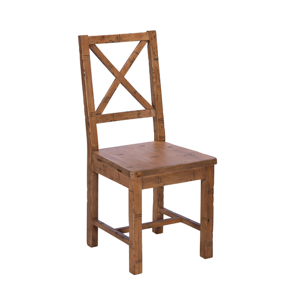Colebrook Dining Chair - Cross Back with Wooden Seat