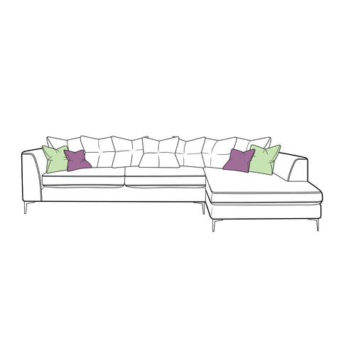 Finley Sofa - Large Chaise Scatter Back
