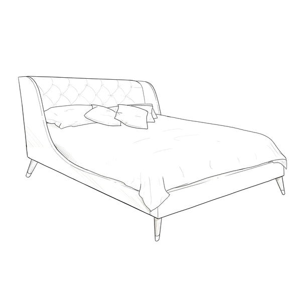 Bertie Upholstered Bed Frame