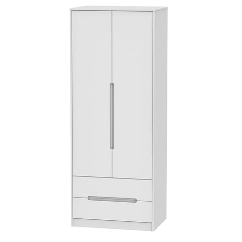 Chelsea Gloss - Tall 2ft6 2 Drawer Wardrobe