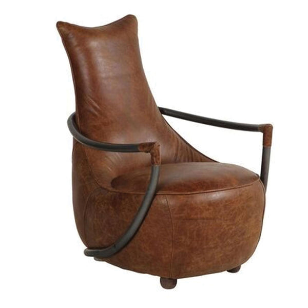 Billy Retro Relax Chair - Brown Leather