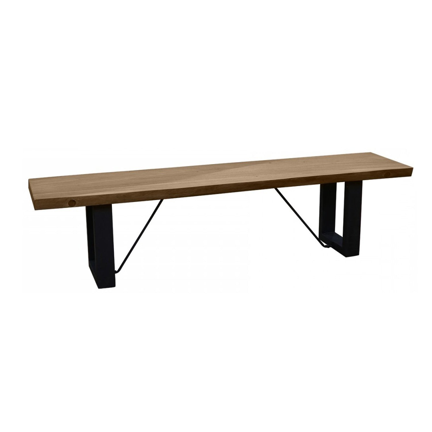 Monks Gate - Bench with Iron Foot - 220cm