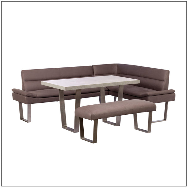 DINING SET DEAL - Morwell Corner Sofa with Dining Table & Bench