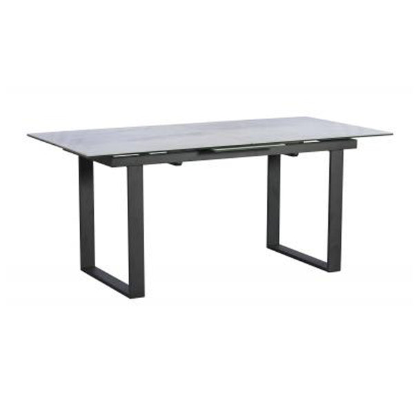 Morwell Ceramic Dining Table - 176cm-216cm Extending Light Grey