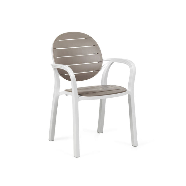 Palma Garden Chair White & Taupe