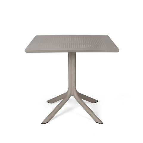 Clip 80cm Garden Table In Taupe