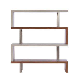 Morwell Walnut & Concrete Bookcase