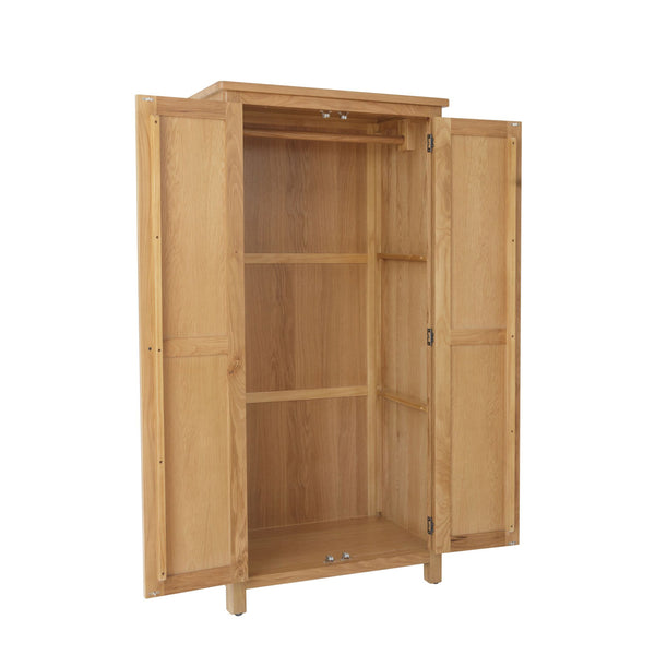 Pershore Oak Wardrobe - 2 Door
