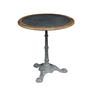 Lambs Green - Zinc Top Round Cafe Table
