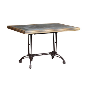 Lambs Green - Rectangular Cafe Table with Zinc Top