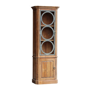 Lambs Green - Reclaimed Pine Circular Iron Display Cabinet