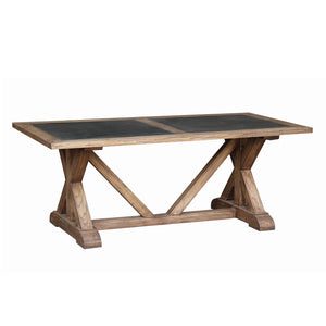 Lambs Green - Old Elm & Zinc Dining Table