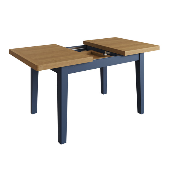 Pershore Blue Painted Dining Table - 1.2m Extending