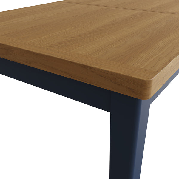 Pershore Blue Painted Dining Table - 1.6m Extending