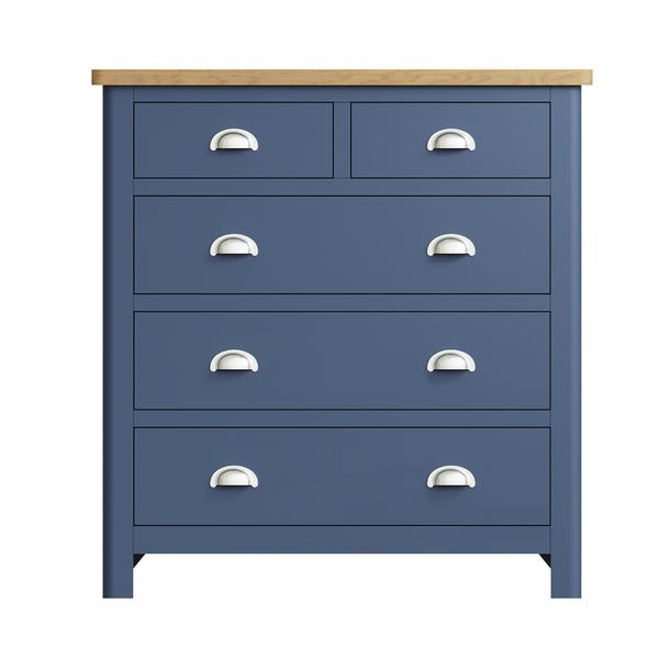 Pershore Blue Painted Chest of Drawers - 2 Over 3
