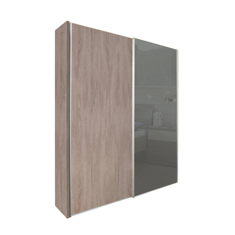 Chicago 150cm Wardrobe with Sliding Doors, 1 Dark Glass Door