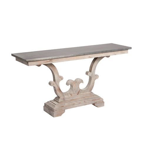 Burnham Reclaimed Occasional - Zinc Top Console Table