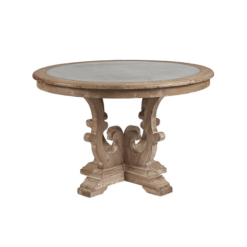 Burnham Reclaimed Dining Table - 120cm Round Zinc