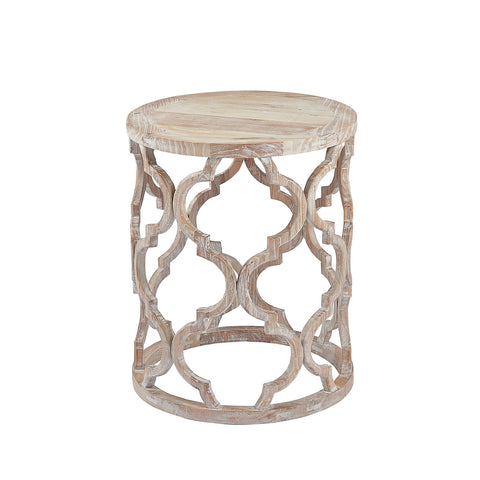 Burnham Reclaimed Occasional - Wooden Lattice Lamp Table