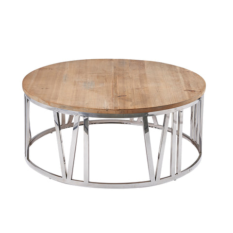Burnham Reclaimed Occasional - Round Clock Coffee Table