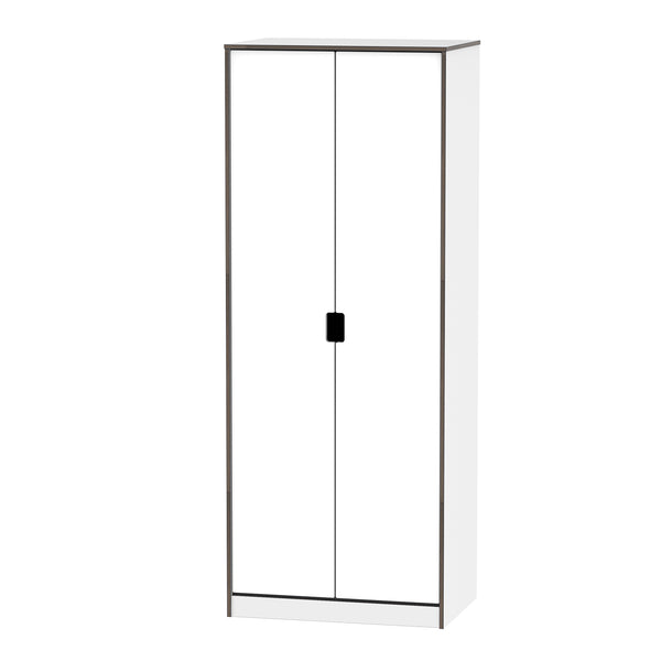 Wandsworth White Gloss 2 Door Wardrobe