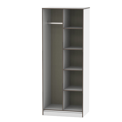 White Gloss Open Shelf Wandsworth Wardrobe