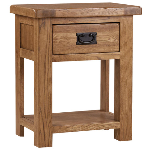 Auvergne Solid Oak Bedside Cabinet - 1 Drawer Night Stand - Better Furniture Norwich & Great Yarmouth