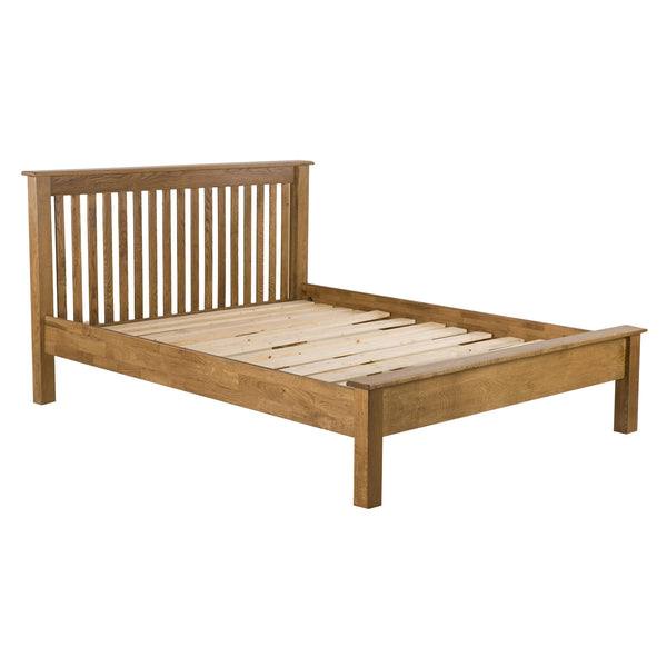 Auvergne Solid Oak Bed Frame - Low Foot End