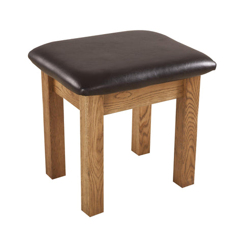 Auvergne Solid Oak Dressing Table - Stool