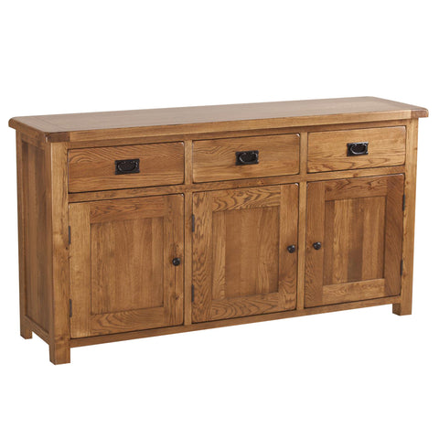 Auvergne Solid Oak Sideboard - Large