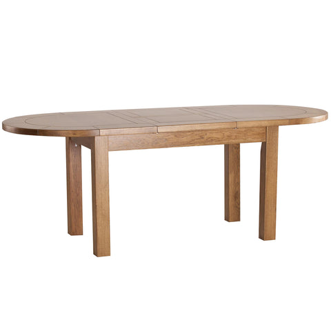 Auvergne Solid Oak Dining Table - Large Extending Oval 5ft4