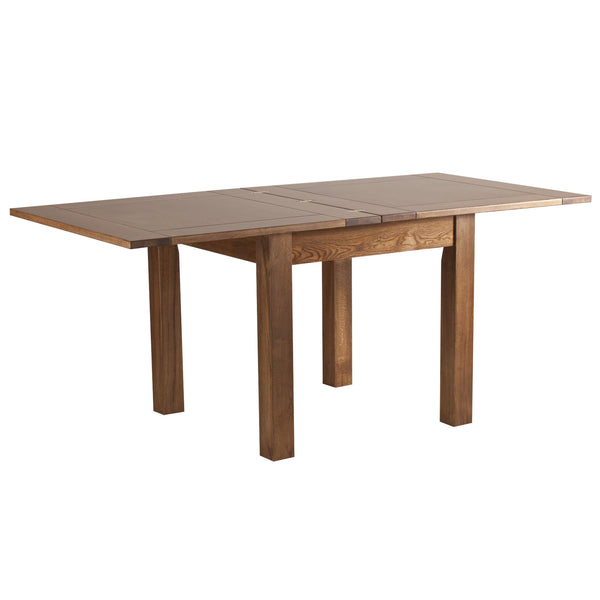Auvergne Solid Oak Dining Table - 3ft x 3ft Flip Top Extending