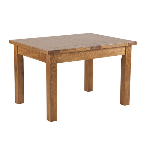 Auvergne Solid Oak Dining Table - 4ft6 Extending (2 Leaf)