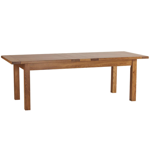 Auvergne Solid Oak Dining Table - 6ft8 Extending (2 Leaf) - Better Furniture Norwich & Great Yarmouth