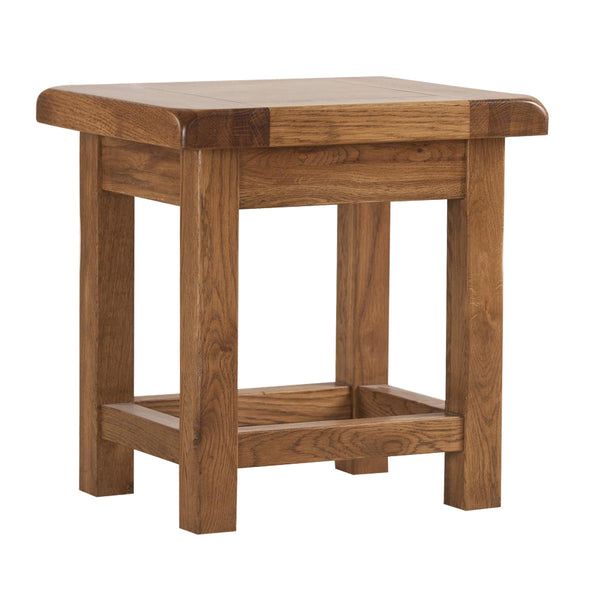 Auvergne Solid Oak Coffee Table - Small Side Table