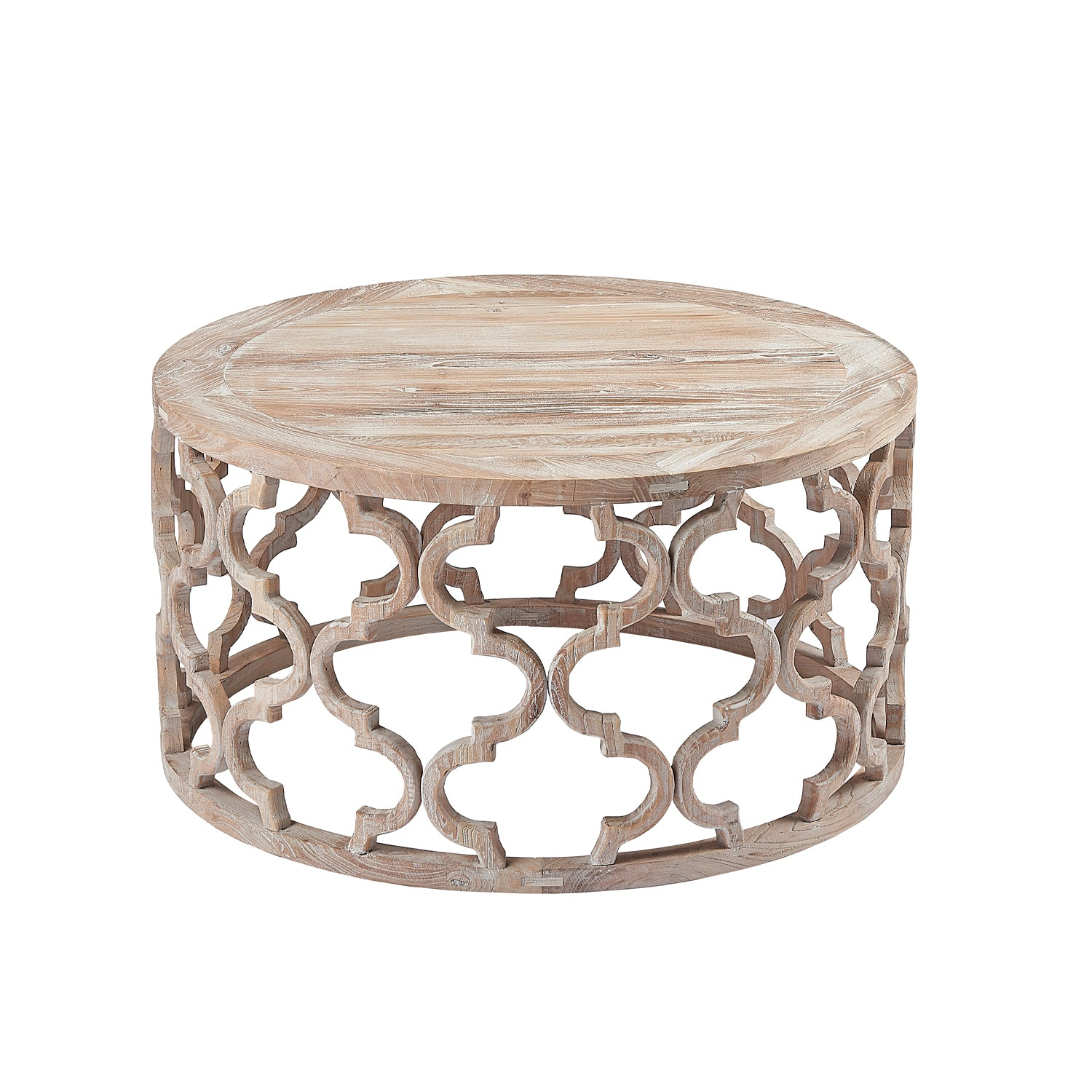 Burnham Reclaimed Occasional - Wooden Lattice Coffee Table