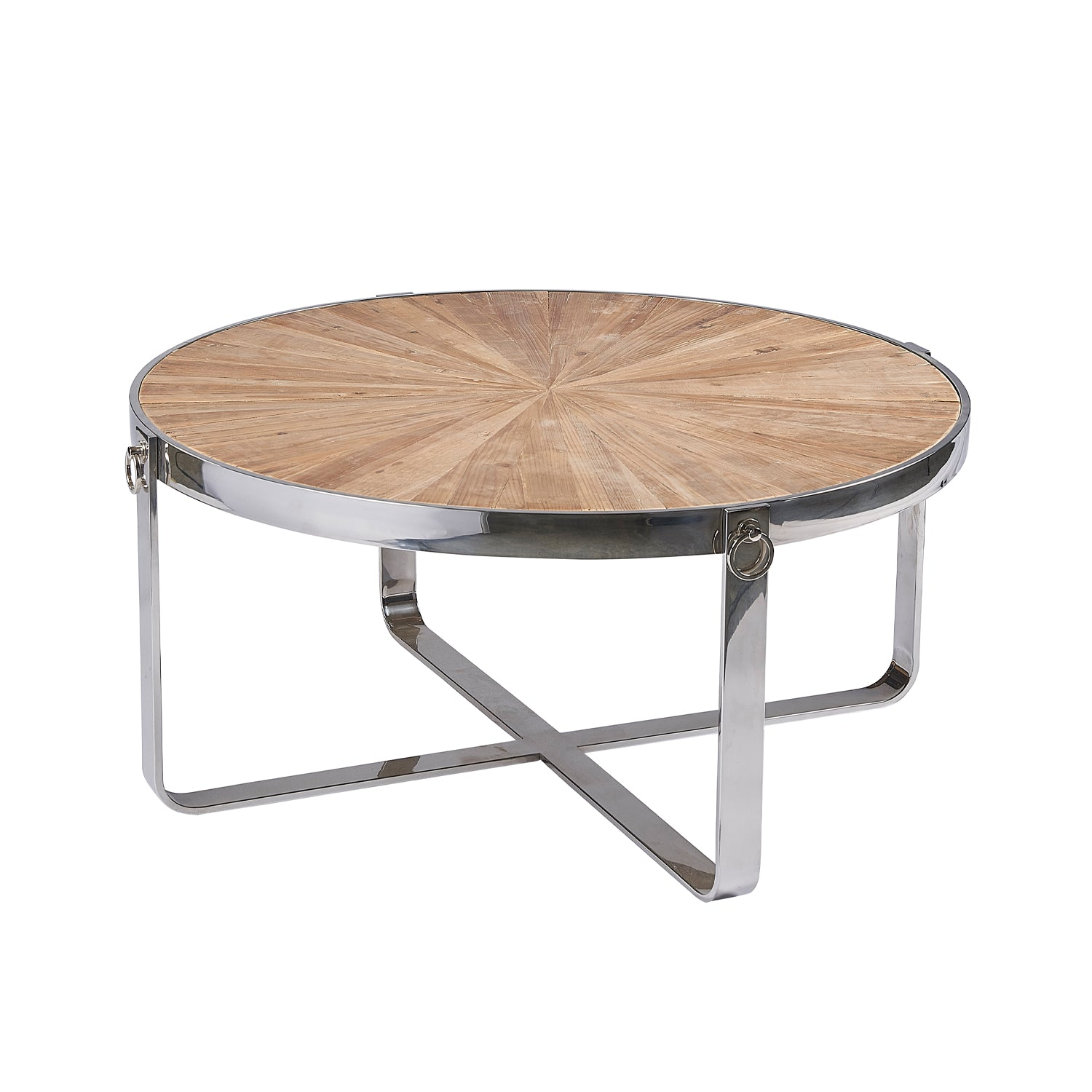 Burnham Reclaimed Occasional - Chrome Hoop Coffee Table