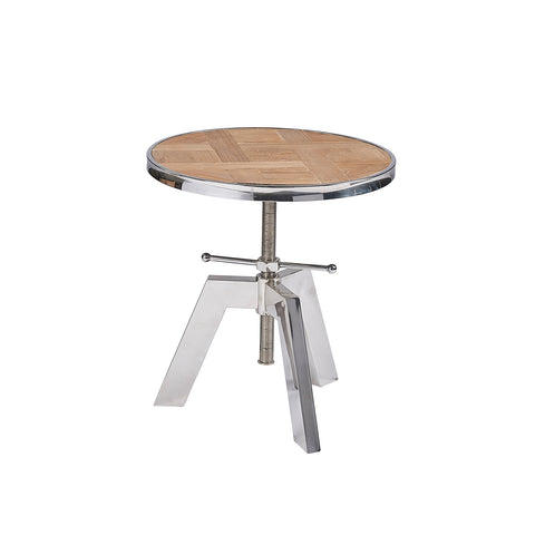 Burnham Reclaimed Occasional - Chrome Tripod Lamp Table