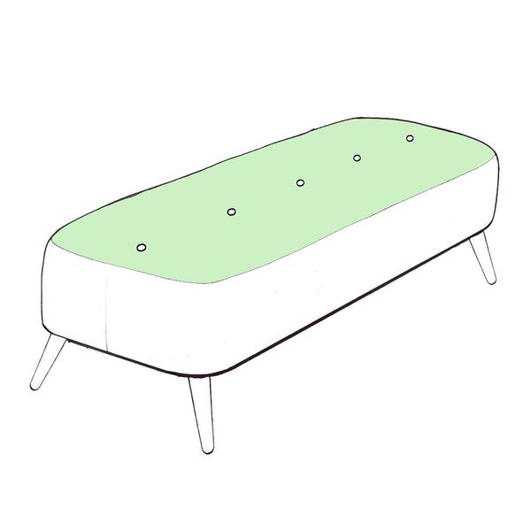 Billie Footstool - Designer Large Bench