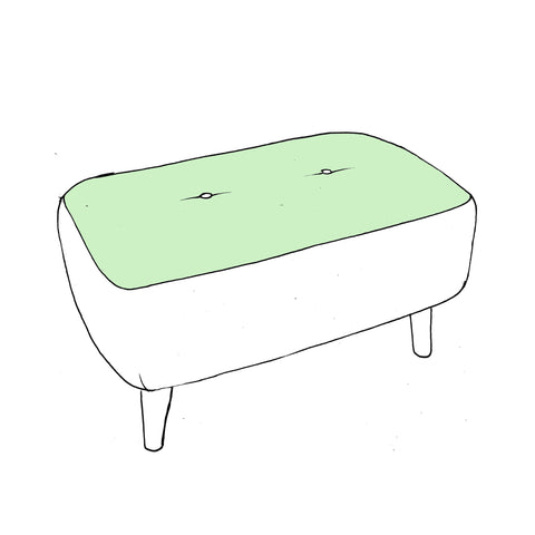 Billie Footstool - Designer Small Bench