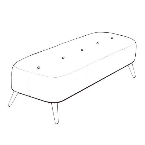 Billie Footstool - Large Bench