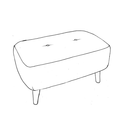 Billie Footstool - Small Bench