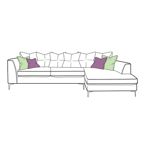 Finley Sofa - Small Chaise Scatter Back