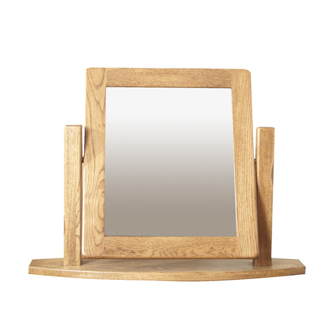 Auvergne Solid Oak Dressing Table   Mirror