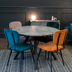 DINING SET DEAL - Hanworth Round Dining Table & 4x Maude Dining Chairs